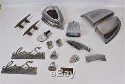 17 Pc LotVintage 1960s Steel Clipper Chris CraftBoatHardwareRestoration Part