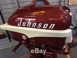 1956 Johnson Sea Horse 30 Hp Vintage Outboard Boat Motor RDE 18
