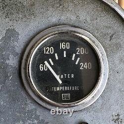1960's Volvo Penta Hydrodyne boat gauge cluster Dash Vintage For Parts Or Deco