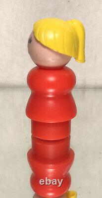 1972 Vintage Fisher Price House Boat Parts Blonde Hair Mother/ Loose/ Pre Owned