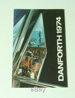 1974 Danforth Boat Parts Catalog Anchors Constellation Compass Vintage Brochure
