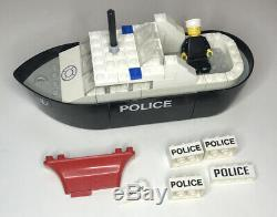 1977 Lego 709 Police Boat, VINTAGE and Rare, Near Complete with Extra Parts