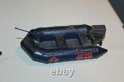 2 1985 GI Joe ARAH COBRA Night Landing Boat motor VTG decals parts lot pieces