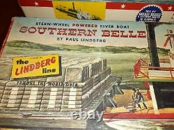 2 Vintage Lindberg Line River Paddle Boat Models Southern Belle MISSING PARTS