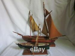 2 parts / repair vintage wood ship model maritime nautical Piel Craftsman boat +