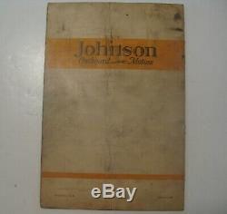 Antique 1930 Johnson Sea Horse 12 K-50 Outboard Boat Motors Repair Parts Catalog