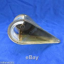 Antique KILBORN SAUER Nautical NAVIGATION LIGHT SET Brass wood boat Authentic