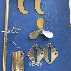 As Found Vintage Japan Toy Boat Parts On Card For ITO Chrome Lot