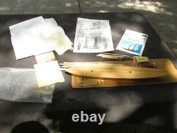 Boat Model kit vintage parts estate find gift ASIS sails OS