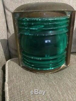 Boat light vintage green For Parts