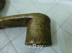 Brass Lever Crank Handle Vintage Cast Metal Nautical Sailing Maritime Boat Parts