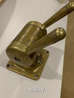 Bronze Vintage Marine Engine Control