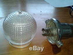 Chris Craft Antique Holophane Glass Stern Pole Globe