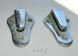Chris Craft Vintage Boat Fender Cleats Set Of Two, Brass Wooden Boat Parts