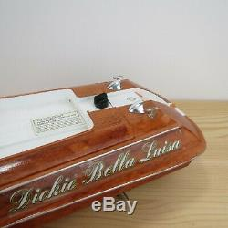 Dickie Rc Boat Bella Luisa Vintage 18 Remote Control Boat Untested For Parts