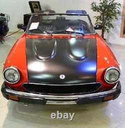 Emblem Ornament Original Pininfarina Fiat 124 SPIDER Trunk Lid Bonnet NOS