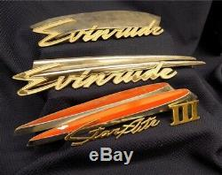 Evinrude Boat Motor Trim Pieces Classic Outboard Engine Parts Sign Vintage