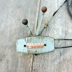 Evinrude Outboard Boat Remote Control Box Simplex Vintage For Repair Parts Old