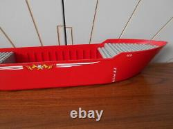 FIRE RESCUE BOAT HULL red, old light grey deck parts LEGOLAND vintage LEGO 4031