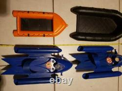 GI JOE NIGHT LANDING RAFT BOAT set 2 Speed Boat Set 2 Vintage Parts or Repairs