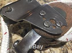 Heavy Duty Vintage Merriman 41 Block/tackle, Main Sheet, Vang 43' Of 1/2 Line