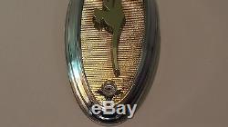 JOHNSON OUTBOARD GOLDEN SEA HORSE MEDALLION EMBLEM 1957-1958 VINTAGE NOS