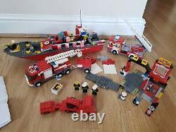 Job Lot Bundle LEGO incomplete Spare Parts FIRE RESCUE Sets 7906 BOAT 7239 Truck