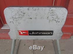 Johnson Outboard Boat Motor Display Stand Vintage Metal Original
