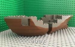 LEGO 2x Lot Brown Gray Boat Hull Bow and Stern 6271, 6268 Pirate Ship Parts