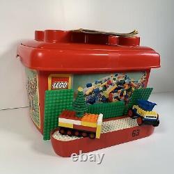LEGO 3kg Bundle Mixed Bricks, Parts and Pieces Vintage Boat + S Base Plates