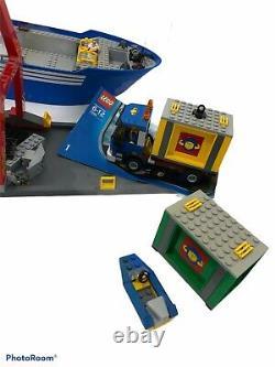LEGO City Lines 7994 Vintage Cargo Ship Boat & Crane +TRK MISSING PARTS Manuals