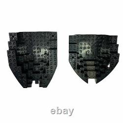 LEGO Pirate Ship Boat Hull Lot X4 Brown Black Gray Bow Stern 6271, 6268 Parts