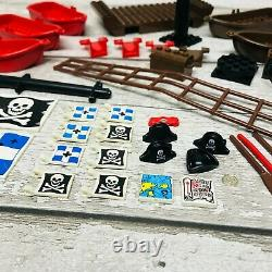 LEGO Pirate Ship Parts Bundle Hull, Boats, Maps and Treasure Chests Original