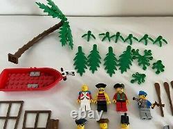 LEGO Vintage Pirate Parts Lot- 7 mini figures, Weapons, Flags, boat, parrots