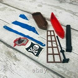 LEGO Vintage Pirate Ships Parts & Accessories Bundle incl Cloth Sail & Masts