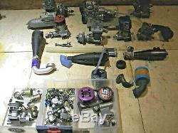 LOT VINTAGE ENGINES FOR RC AIRPLANES boat Parts Lot Evolution HPI McCoy Torq O S