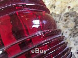 Large Pair Vintage Polished Brass Side Mount Running Lights Glass Led Rewired