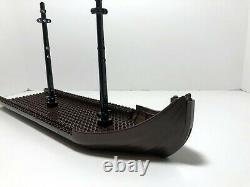 Lego Boat Hull + Masts parts from Troll Warship 7048