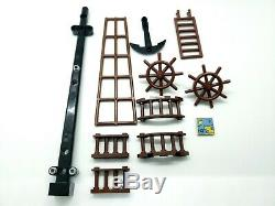 Lego Lot Of Pirate Ship Pieces Mast Ladder Anchor Vintage Boat Parts
