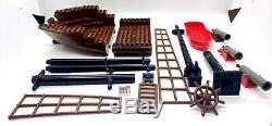 Lego Vintage Ship Boat Parts Lot Hull Mast Ladder Cannon Old Brown Shows Wear