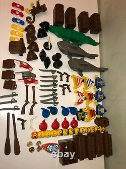 Lot More of 80 pieces parts Lego Pirate Vintage Original minifig animal boat