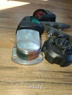 Lot Of Vintage Boat Parts Lights Etc (e)