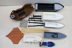 Lot Of Vintage LEGO Boat Ship Hull Parts Pirate Ship Mast Mixed Lot