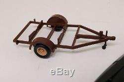 Lot Vintage 125 Model Kit Hydroplane & 2 Boat Trailer Built Junkyard Parts