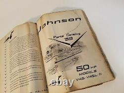 Lot Vintage Johnson Boat Motors Parts Catalogs 1958 V4SL V4L 1959