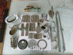 Lot of Boat Parts From 1950's Vintage Wooden Chris-Craft Various Parts Stainless