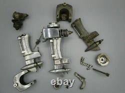 Lot of Vintage Allyn Sea Fury Model Outboard Motor Boat Engine & Parts