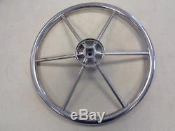 Mercury Vintage 15 7/8 Ride Guide Stainless Steel Steering Wheel Marine Boat
