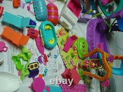 Massive polly pocket lot dolls cars boats accessories clothes shoes hats parts