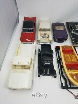 Model Car Junkyard Lot Cars Truck Boat Trailers AMT SMP & Others w Misc. Parts